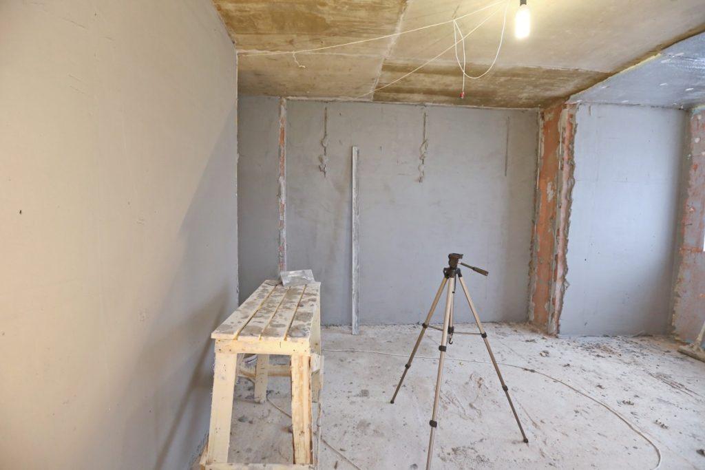 ремонт в квартире, штукатурка стен